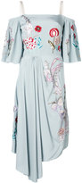 Temperley London Woodland midi dress - women - Silk/Spandex/Elastane - 8