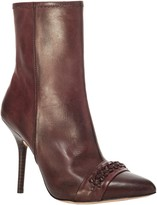 Max Studio Taro - Burnished Leather Boots With Braided Detail