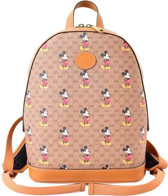 Gucci x Disney Brown Leather Small Backpack