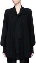 Co Tie neck dolman sleeve knit top