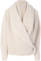 Jil Sander ribbed wrap cardigan