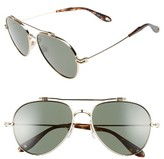 Givenchy Men's 58Mm Polarized Aviator Sunglasses - Gold