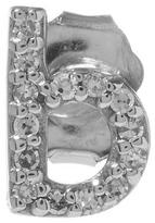 KC Designs Rose Gold Diamond B Single Stud Earring