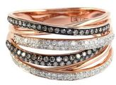EFFY Espresso 14Kt. Rose Gold Brown Diamond & Diamond Ring