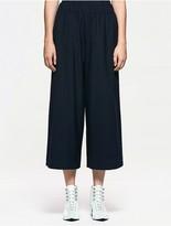 Calvin Klein Platinum Wool Silk Wide Leg Pants