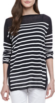 Vince Boat-Neck Striped Sweater
