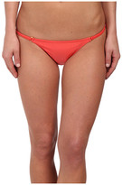 Vix Solid Coral Red String Full Bottoms