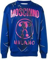 Moschino trompe-l'oeil logo sweatshirt
