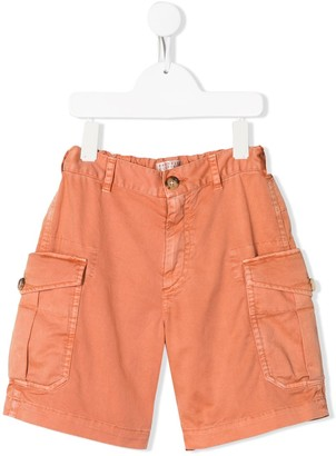 BRUNELLO CUCINELLI KIDS Straight-Leg Cargo Shorts
