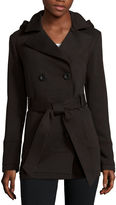 Liz Claiborne Belted Fleece Trench Pea Coat