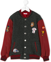 Dolce & Gabbana knitted panel bomber jacket
