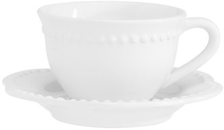Pottery Barn Emma Beaded Cup and Saucer