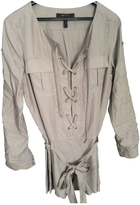 BCBGMAXAZRIA Beige Cotton Jumpsuits