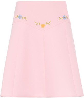 Miu Miu Technical sable skirt