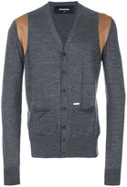 DSQUARED2 contrast panel cardigan - men - Viscose/Wool - S