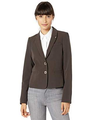 Tommy Hilfiger Women's Two Button Twill Blazer