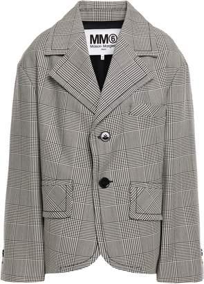 MM6 MAISON MARGIELA Oversized Prince Of Wales Checked Wool-blend Blazer