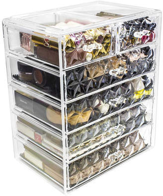 SORBUS Sorbus Acrylic Cosmetic Makeup and Jewelry StorageCase Display(4 Large/2 Small Drawers)