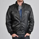Buffalo by David Bitton Men's Faux Leather Strap Collar Zip Front Jacket
