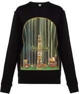 Loewe - Window Totem Cotton Sweatshirt - Mens - Black Multi