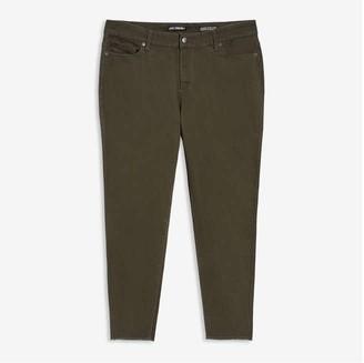 Joe Fresh Women+ Classic Slim-Fit Jeans, Army Green (Size 18)