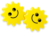 Yellow Smile Gear Rattles