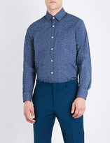 Canali Abstract floral-print regular-fit cotton shirt