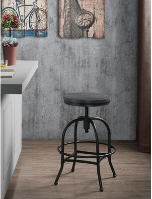 American Heritage Kirtland Adjustable Height Swivel Bar Stool