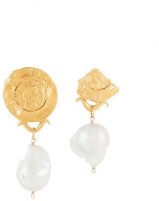 Alighieri Draped Pearl Earrings