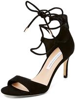 Diane von Furstenberg Rimini Suede Lace Up Heel