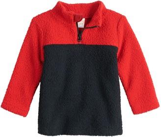 Baby Boy Jumping Beans Sherpa Quarter-Zip Sweater