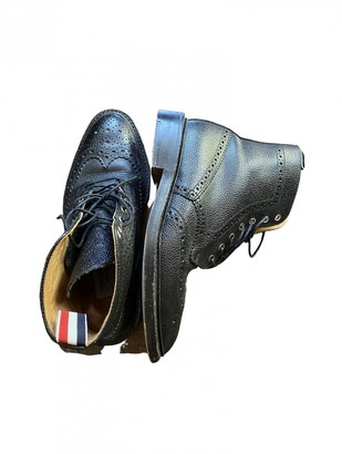 Thom Browne Black Leather Boots