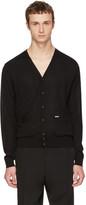 DSQUARED2 Black Wool Cardigan