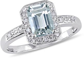 Rina Limor Fine Jewelry 10K 1.01 Ct. Tw. Diamond & Aquamarine Ring