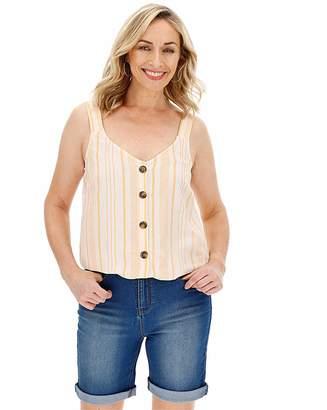 Marisota Linen Button Front Vest