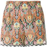 Etro bohemian print shorts
