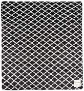 "MyBlankee My Blankee Moroccan Mini Tile Minky Throw Blanket, 52"" X 59"", Black"