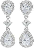 Mikey Twin Oval Cubic Linked Drop Earring