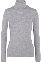 Splendid Supima Cotton And Modal-blend Jersey Turtleneck Top - Light gray
