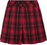 Alice + Olivia Tartan flannel shorts