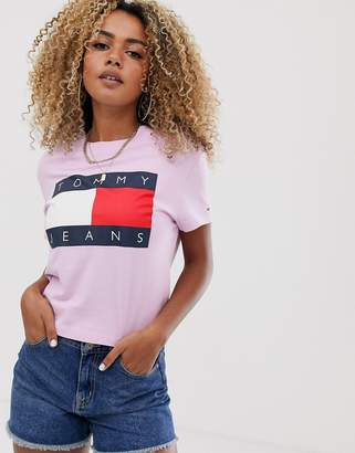 Tommy Jeans flag t-shirt-Pink