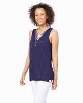 Charming charlie Flowy Gardens Overlay Tank
