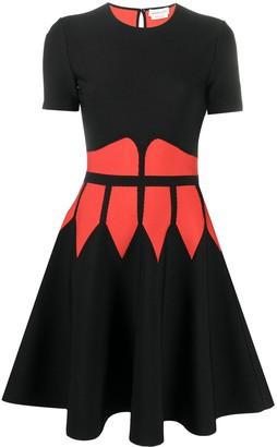 Alexander McQueen Colour-Block Skater-Style Dress