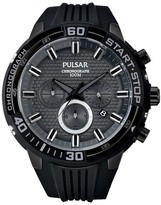 Pulsar Black Ion Chronograph Strap Watch Pt3699x1