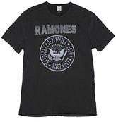 Amplified Mens Charcoal Ramones Silver Diamante T Shirt from