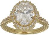 Judith Ripka 14K Clad Diamonique Engagement Ring