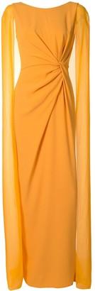 Paule Ka Tulle-Sleeve Gown