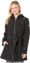 Vince Camuto Hooded and Belted Jacket V10713-ZA (Black) Women's Clothing