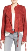 Somedays Lovin Women's The Cave Faux Suede Moto Jacket