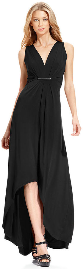 MICHAEL Michael Kors Sleeveless High-Low Maxi Dress